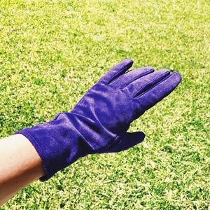 HM Purple Suede Gloves